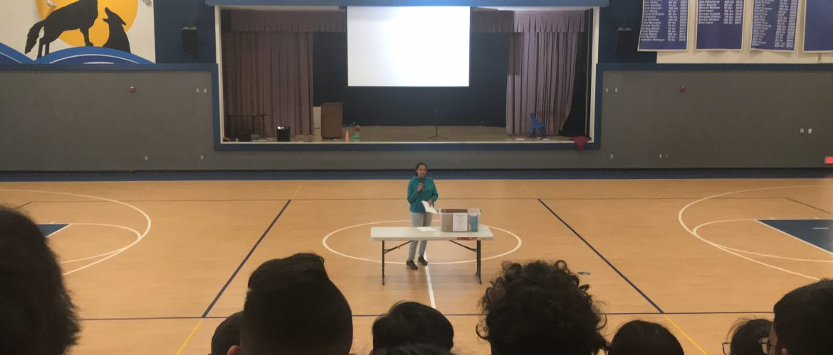 Concussion Awareness Speech at Quimby Middle School